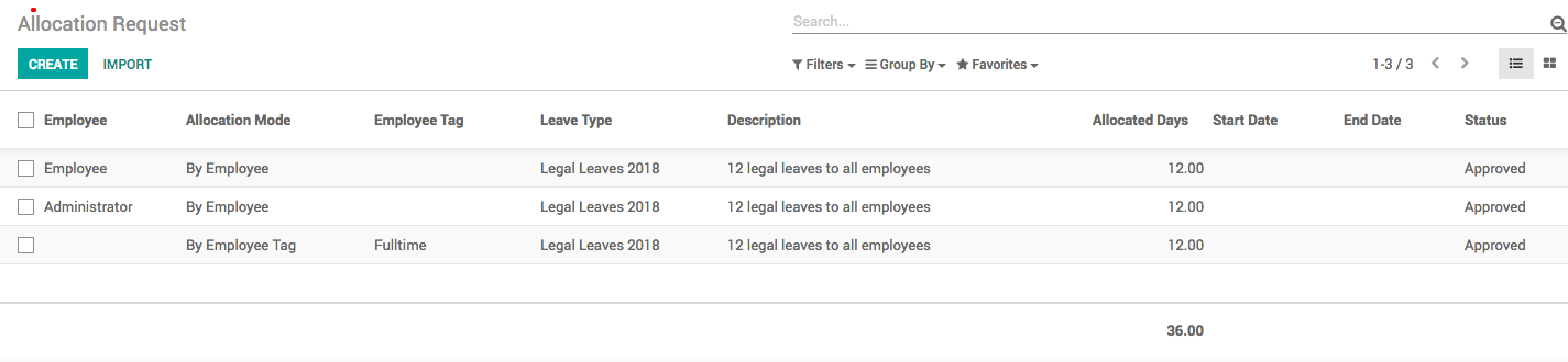 Managing Employee Leaves — Odoo Online Book 12 0 documentation